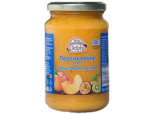 """Десерт персиковый с фруктовым миксом """"Delphi"""" 360г"""