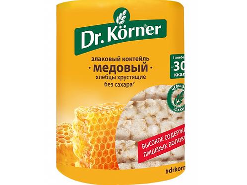 """Хлебцы «Злаковый коктейль» Медовый """"Dr korner"""" 100гр"""