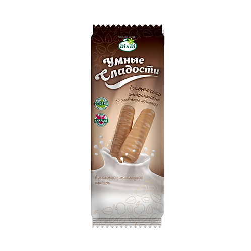 Батончики со сливочной начинкой в шоколадной глазури  «Умные сладости» 20г