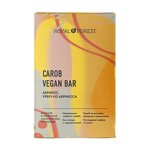 """Шоколад на кэробе """"Абрикос, абрикосовый урбеч"""" ROYAL FOREST 50г"""