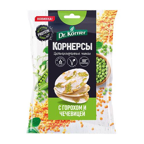 """Чипсы рисовые с горошком и чечевицей  """"Dr korner"""" 50гр"""