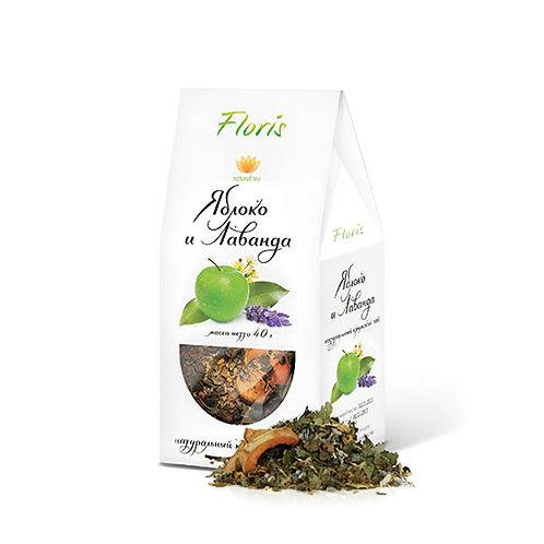 """Яблоко и лаванда - чайный напиток """"Floris"""" 40г"""