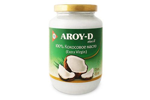 """Кокосовое масло extra virgin """"Aroy-d"""" 450мл"""