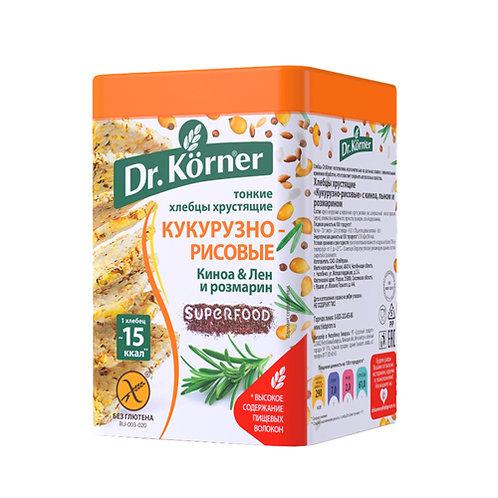 """Хлебцы кукурузно-рисовые с киноа, льном, розмарином """"Dr korner"""" 100гр"""