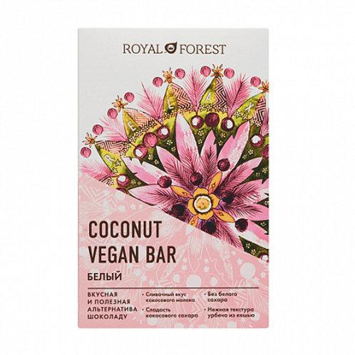 """Шоколад кокосовый белый """"Vegan coconat"""" ROYAL FOREST 50г"""