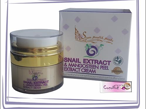 Увлажняющий крем для лица с экстрактом улитки и мангостина Siam Health Herbs 15г