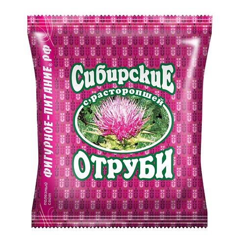 """Отруби пшеничные с расторопшей """"Сибирские"""" 200г"""