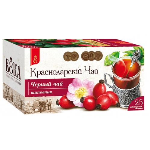 """Чай черный с шиповником """"Краснодарский"""" 25 пак"""