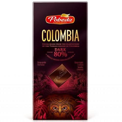 """Шоколад Горький 80% Колумбия """"Pobeda"""" 100г"""