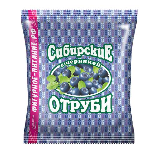 """Отруби пшеничные с черникой """"Сибирские"""" 200г"""