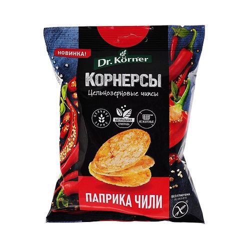 """Чипсы кукурузно-рисовые с паприкой чили  """"Dr korner"""" 50гр"""