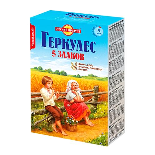 """Геркулес 5 злаков """"Русский продукт"""" 500г"""