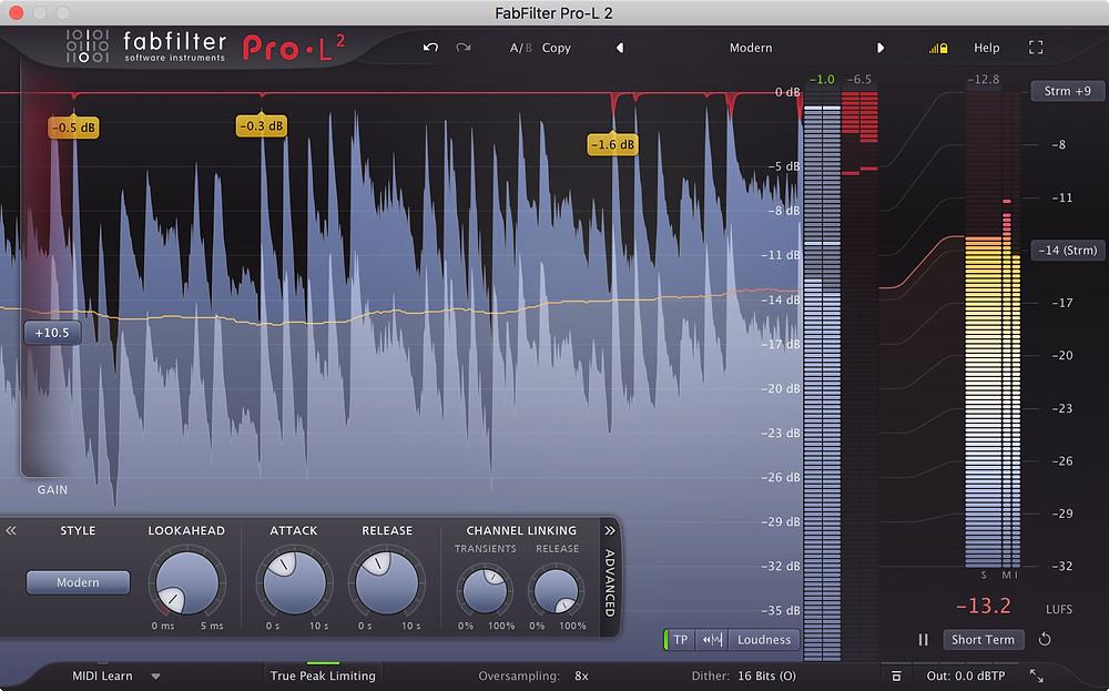 FabFilter Pro-L 2 Mastering Limiter