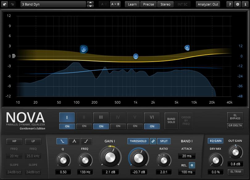 TDR Nova Mastering Dynamic EQ