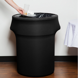 black spandex cover for 32 gallon garbage can