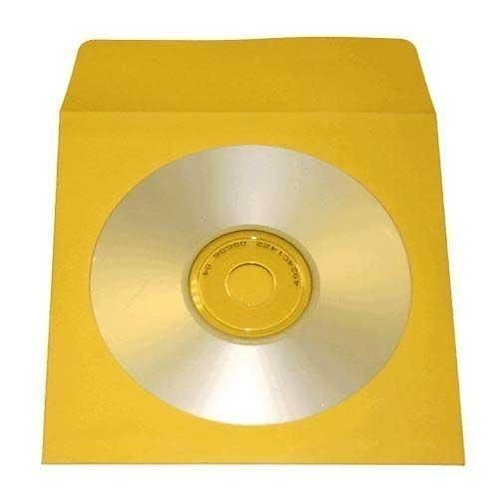 Yellow Color Paper Sleeves with Window and Flap Envelopes