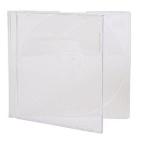 Slim 5.2mm Single Clear CD Disc Storage Jewel Cases (200)