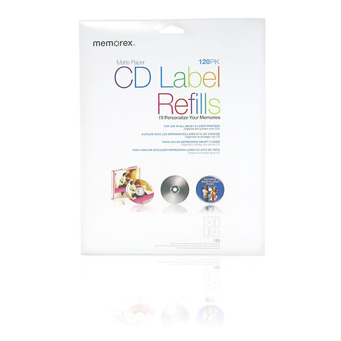 CD/DVD Labels 120-Pack, White