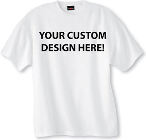 10 Custom Black & White Vinyl T-Shirts