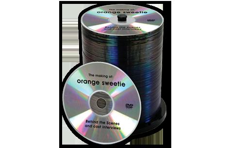Black Thermal Printed Dvds