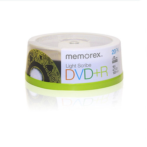 Memorex Lightscribe DVD R 20pk Spindle