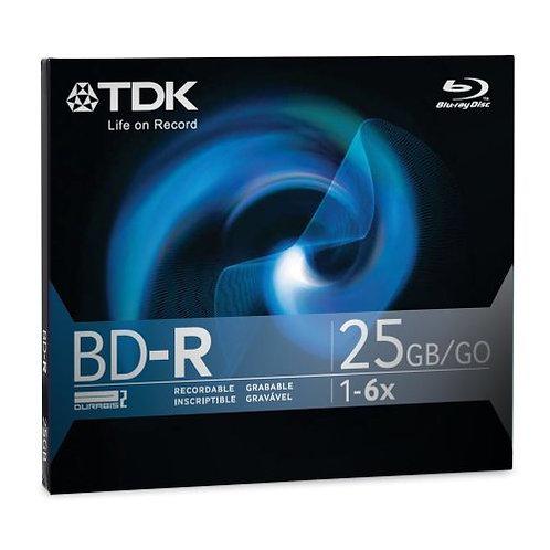 TDK 25 GB 2x Blu-ray Single Layer Recordable Disc BD-R