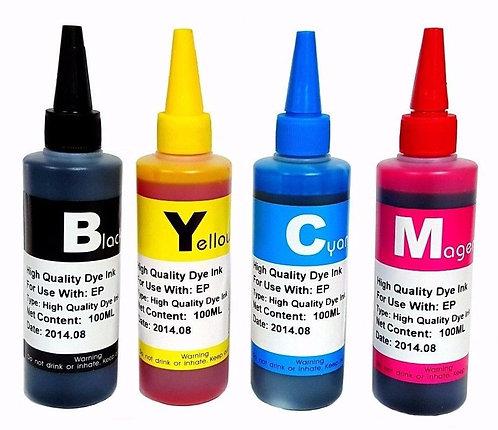 Compatible Premium Dye Ink Refill Bulk for Epson Inkjet Printer