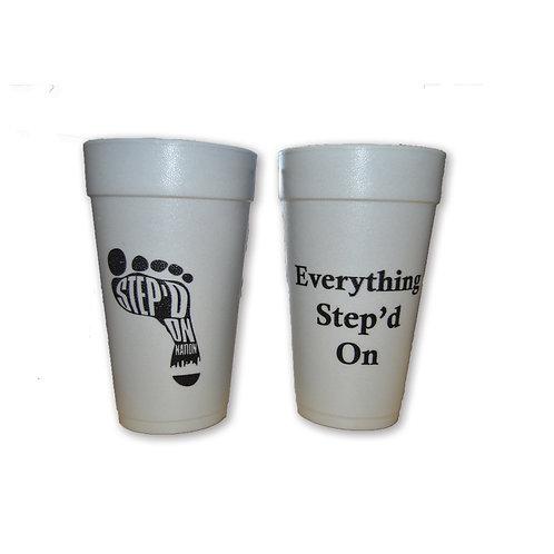 100 Styrofoam Printed Cups