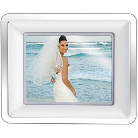 Coby DP-882 8-Inch Digital Photo Frame with Built-In MP3 Player