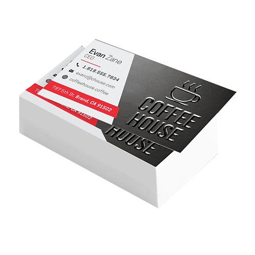 Suede Business Cards with Spot UV