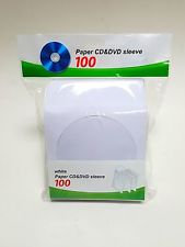 White Paper Sleeve with Clear Window and Flap Envelopes