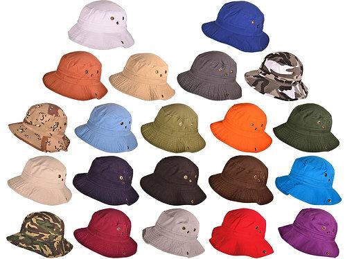 12 Custom Embroidered Bucket Hats