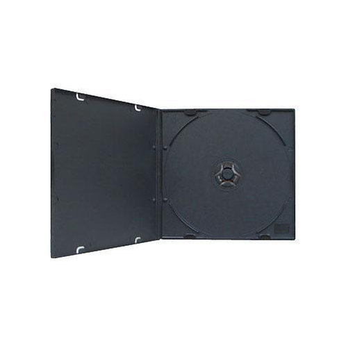 5.2mm Slim PP Poly CD / DVD Disc Case Black Sleeve (200)