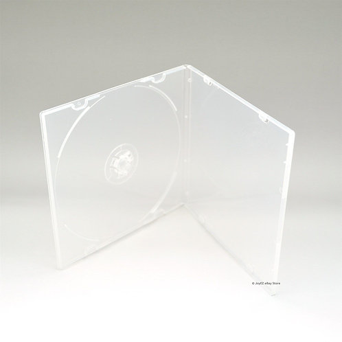 (200) Clear 5.2 mm Single CD-R DVD-R Disc PP Poly Plastic Case