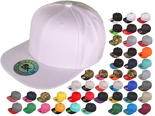 12 Custom Embroidered Snapback Hats