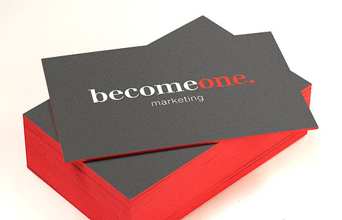 Colored Edge Business Cards (32 point UV Glossy)