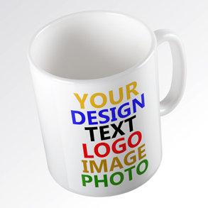 White Ceramic Mug, 11oz with wraparound image