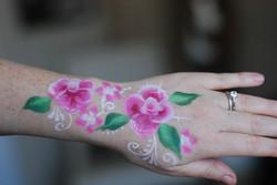 Calgary face painting pink roses .jpg