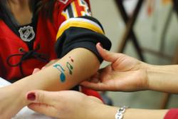 glitter tattoo calgary face painter