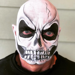scary skull face paint calgary best top face painter