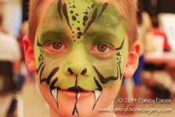 snake face painting green Fancy Faces Calgary.jpg
