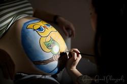 calgary prenatal belly painting