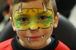 monster face paint mask calgary