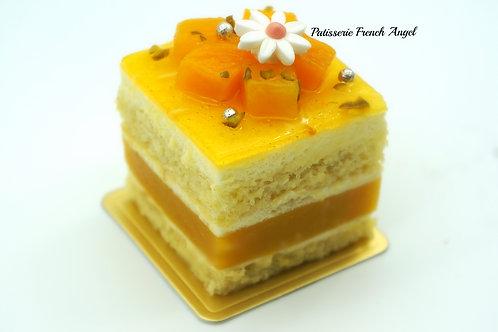 芒果菠蘿芝士杏仁蛋糕