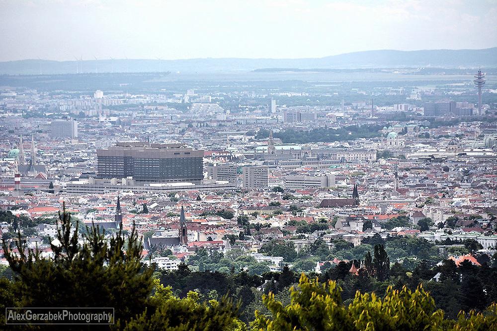 Blick auf Wien vom Häuserl am Roan