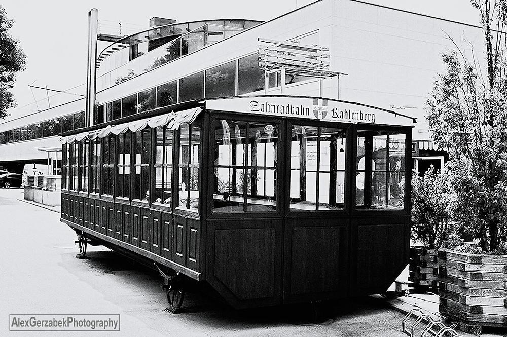 Wagon der ehemaligen Zahnradbahn