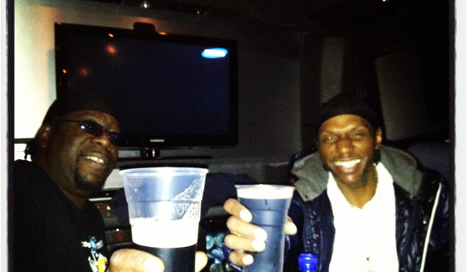 Seanie T & Ricky Ranking on the tour bus somewhre in europe