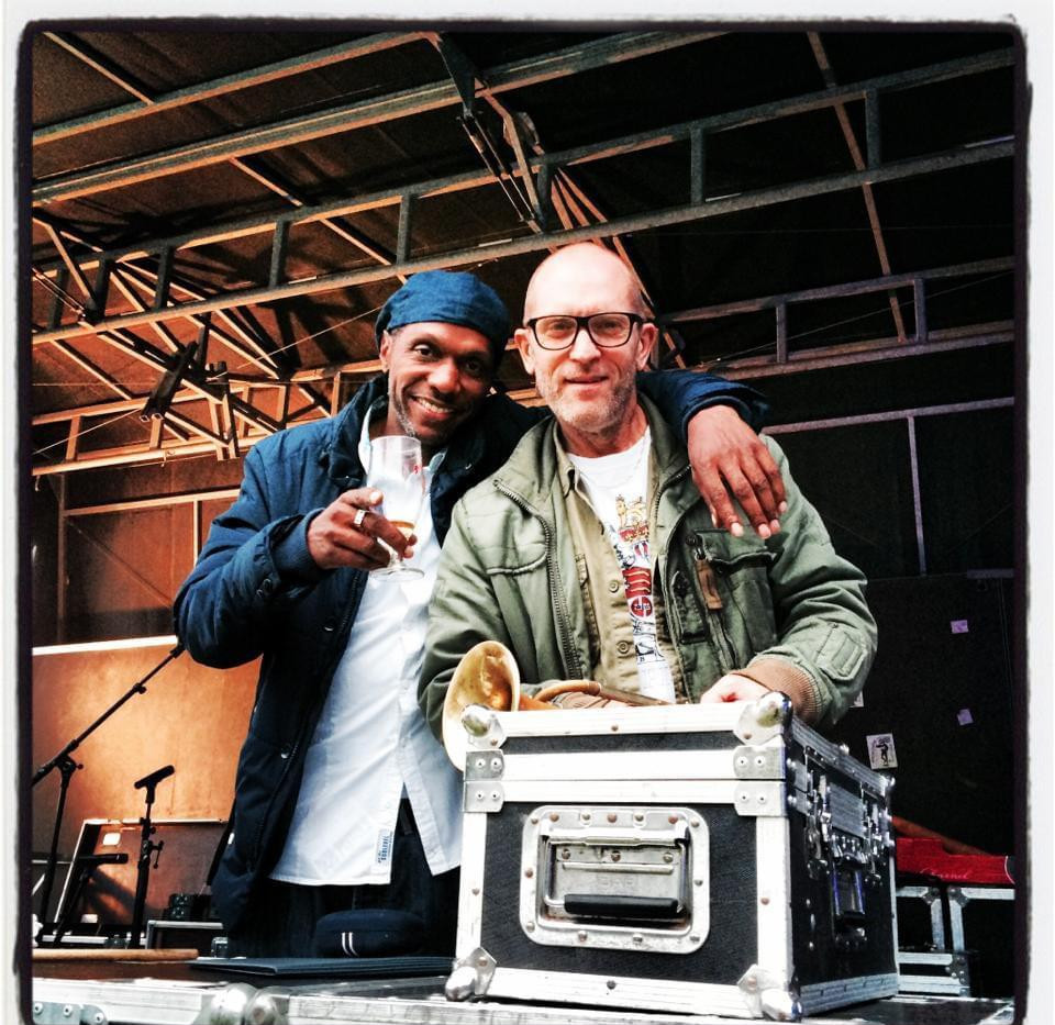 Seanie T & Tim hutton Sound check Dub Pistols