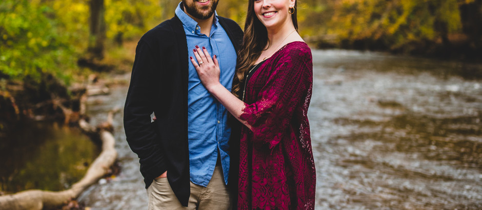 Engagement session at Jerusalem mill village in kingsville, md