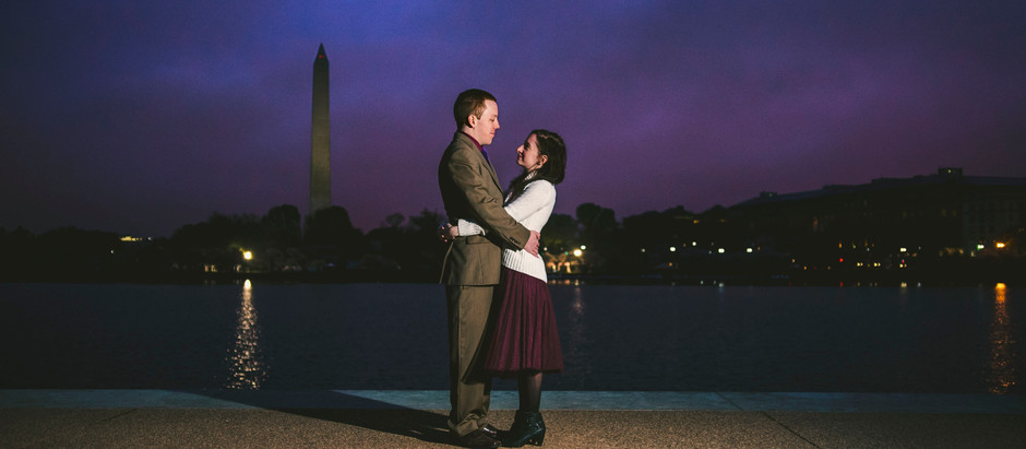 sunrise engagement session. washington, dc